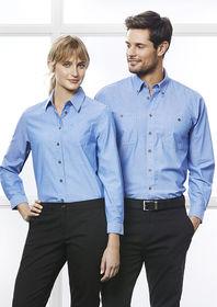 Mens Chambray Long Sleeve Shirt