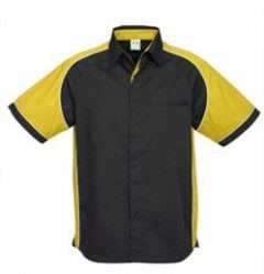 Mens Nitro Shirt SS with yellow sleeves