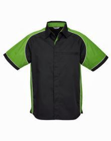 Mens Nitro Shirt SS with green sleeves