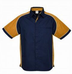 Mens Nitro Shirt SS with light orange sleeves
