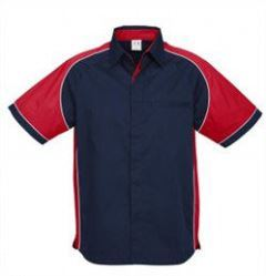 Mens Nitro Shirt SS with red sleeves