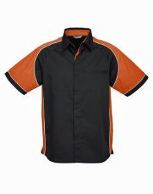 Mens Nitro Shirt SS with orange sleeves