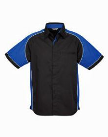 Mens Nitro Shirt SS with blue sleeves