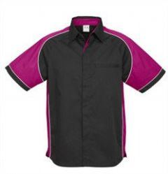Mens Nitro Shirt SS with purple sleeves
