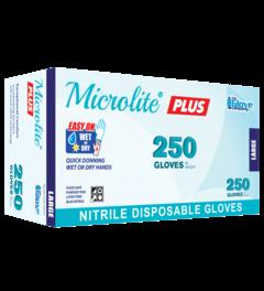 Microlite® Plus Nitrile Disposable Gloves, Box/250