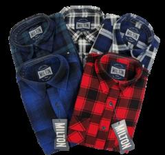 Milton Half Button Flannelette Shirt