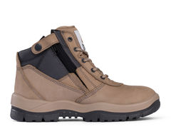 Mongrel Zipsider Safety Boot - Stone