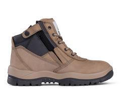 Mongrel Zipsider Safety Boot   Stone
