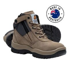Mongrel Zipsider Safety Boot - Stone
