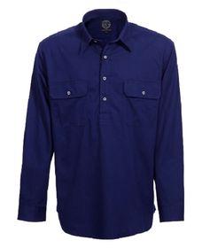 A navy blue Pilbara Work Shirt