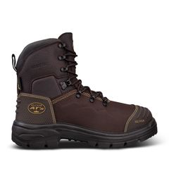 Oliver 150mm Brown Lace Up Safety Boot