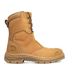 Oliver 55-385 200mm Hi-Leg Wheat Zip Sided Safety Boot