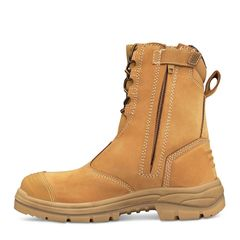 Oliver 55 385 200mm Hi Leg Wheat Zip Sided Safety Boot