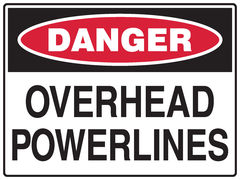 Overhead Powerlines Sign