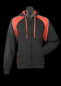 A Panorama Zip Hoodle with orange