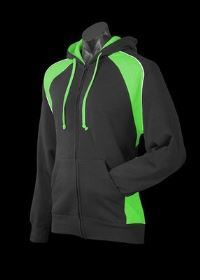 A Panorama Zip Hoodle with green