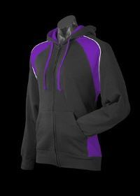 A Panorama Zip Hoodle with purple