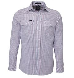 Pilbara Men's Long Sleeve Checked Shirt