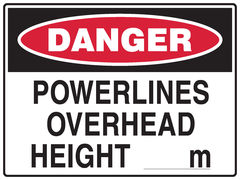 Powerlines Overhead Sign