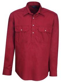 A red Pilbara Work Shirt