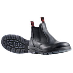 Redback Black Elastic Side Work Boot