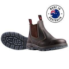 Redback Claret Elastic Side Safety Boot