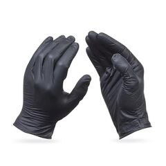 Rhino ProHands Black Nitrile Disposable Gloves