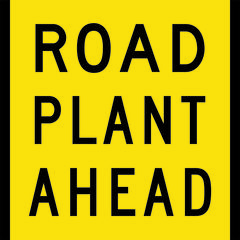 Road Plant Ahead Sign