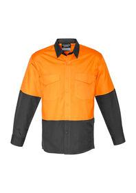 SYZMIK Mens Rugged Cooling HiVis LS Shirt