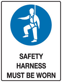 Safety Harness Sign