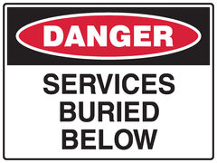Services Buried Below Sign