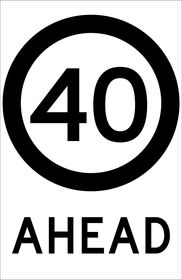 Speed Advisory Ahead Sign