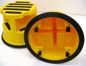 Team Wheelable 180KG Safety Step Stool - Yellow