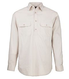 A stone coloured Pilbara Work Shirt