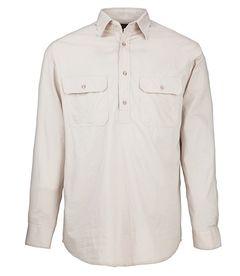 A stone coloured Pilbara Work Shirt