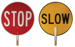 Stop/Slow Bats Wooden Handle
