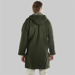 The back of a man wearing a Swanndri Bushshirt jacket