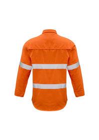 Syzmik Mens FR Closed Front Hooped Taped Shirt