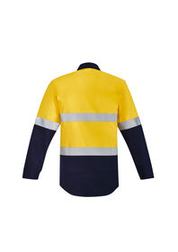 Syzmik Mens Flame HRC 2 Hoop Taped Closed Front Spliced Shirt