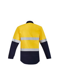 Syzmik Mens Flame HRC 2 Hoop Taped Open Front Spliced Shirt