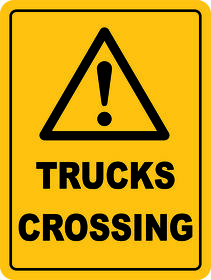 Trucks Crossing Sign