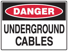 Underground Cables Sign