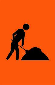 Worker Symbol Sign