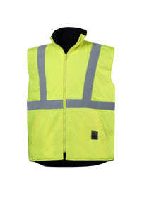 An Yellow High Visibility Waterproof Vest